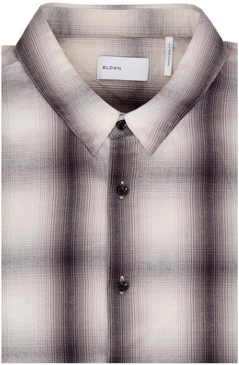 BLDWN Arias Gray Plaid Button Down Shirt
