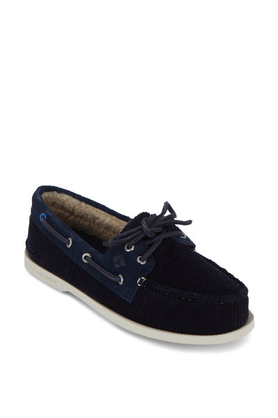 Sperry - Authentic Original Navy Cozy Corduroy Boat Shoe