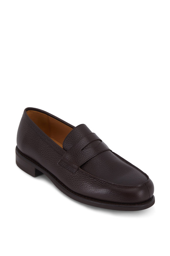 Paraboot Adonis Marron Galaxy Fine Leather Penny Loafer