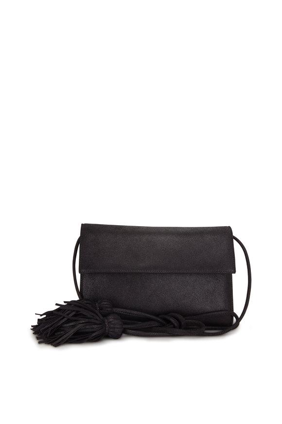 Rodo Firenze Palladiu Black Burma Tassel Crossbody Bag