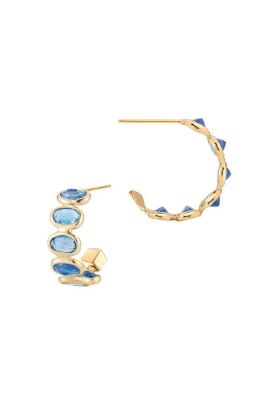 Paolo Costagli - Brilliante Gold Ombre Blue Sapphire Earrings