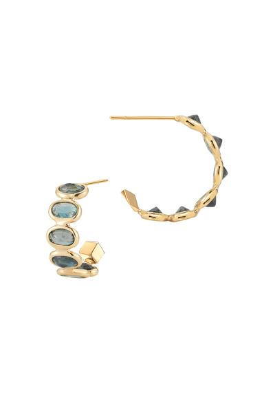 Paolo Costagli - Gold Ombré Green Sapphire Earrings