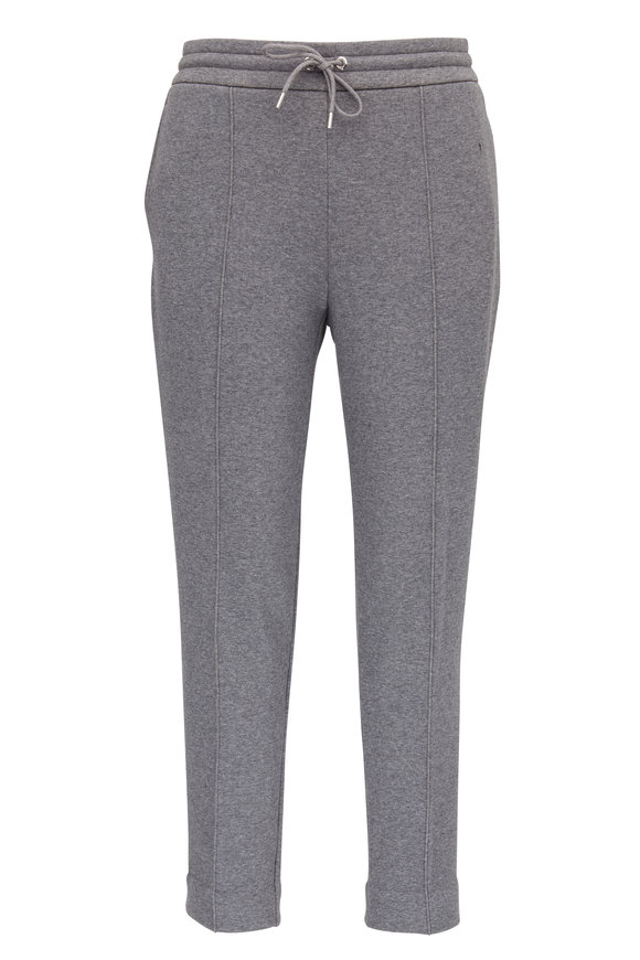 Moncler Gray Heather Knit Sweatpant