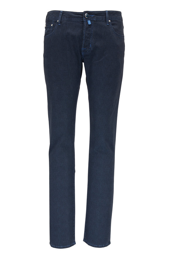 Jacob Cohen  Blue Printed Five Pocket Jean