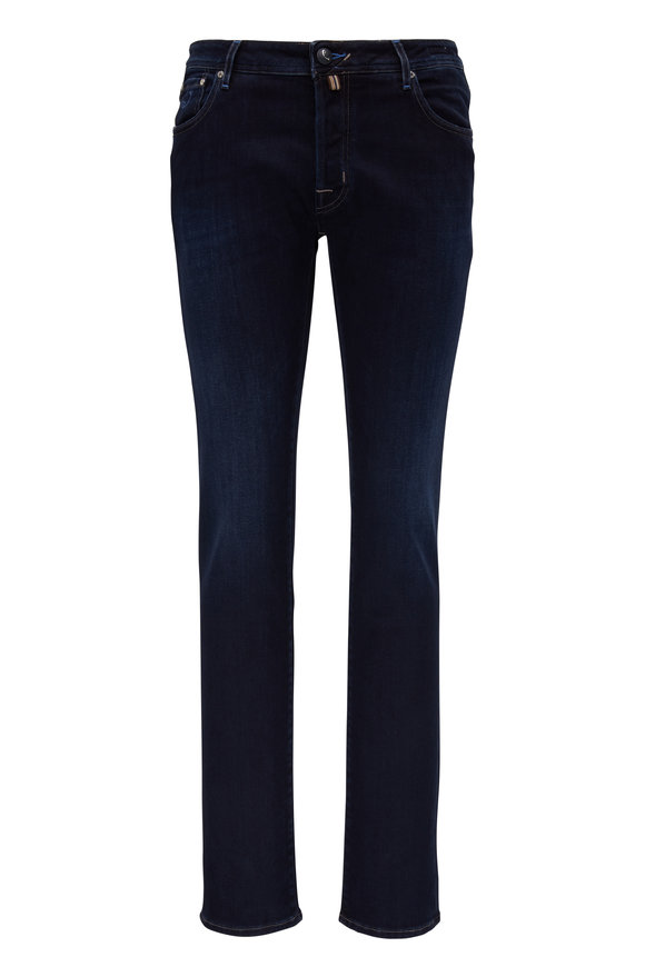 Jacob Cohen  Dark Indigo Five Pocket Jean