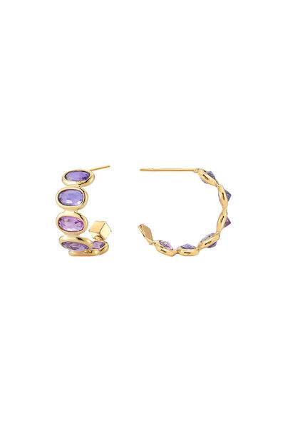 Paolo Costagli - Gold Ombré Purple Sapphire Earrings