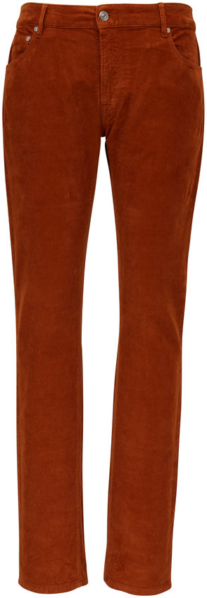 PT Pantaloni Torino Rust Orange Five Pocket Corduroy Pant