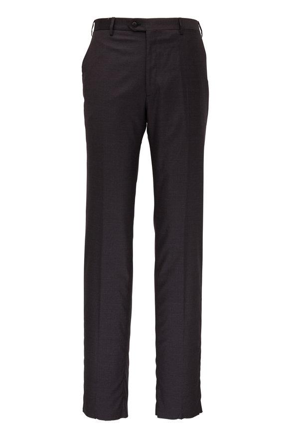 Brioni Charcoal Gray Wool Pant