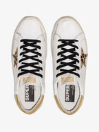 Golden Goose - Superstar White Leather & Leopard Star Sneaker