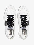 Golden Goose - Women's Ball Star White & Black Glitter Sneaker