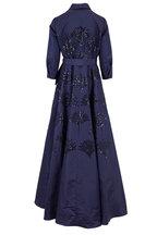 Carolina Herrera - Sapphire Embellished Long Sleeve Trench Gown