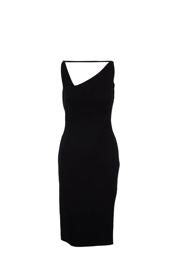 Tom Ford Black Open Cowl Back Sleeveless Dress