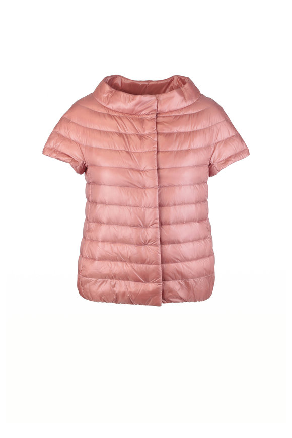 Herno Blush Cap Sleeve Puffer Jacket