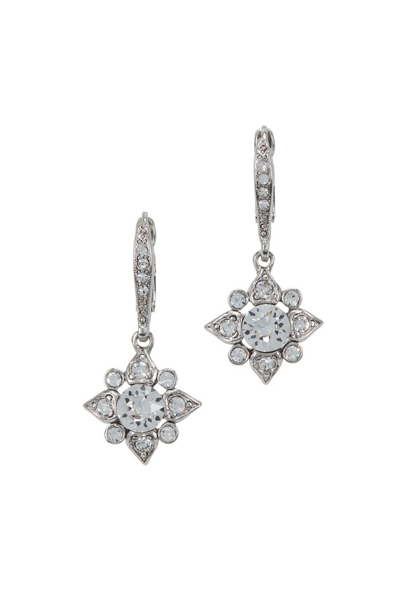 Oscar de la Renta Silver & Crystal Delicate Star Clip-On Earrings