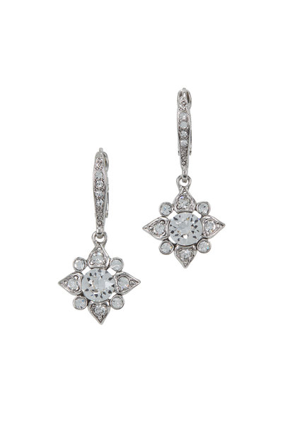 Oscar de la Renta - Silver & Crystal Delicate Star Clip-On Earrings