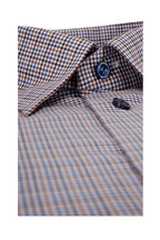 Eton - Brown Plaid Contemporary Fit Dress Shirt