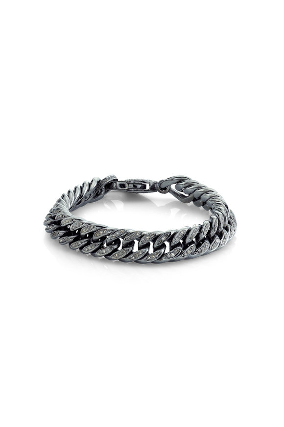 Sheryl Lowe Pavé Flat Rope Chain Bracelet