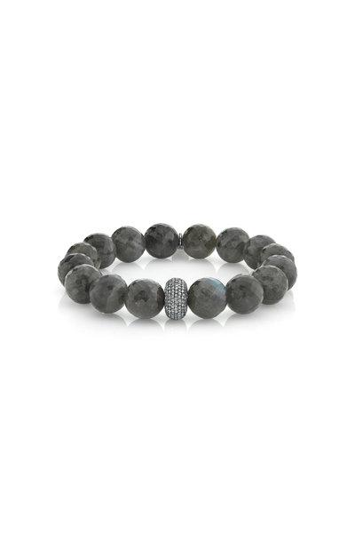 Sheryl Lowe - Labradorite Beaded Bracelet, 12mm