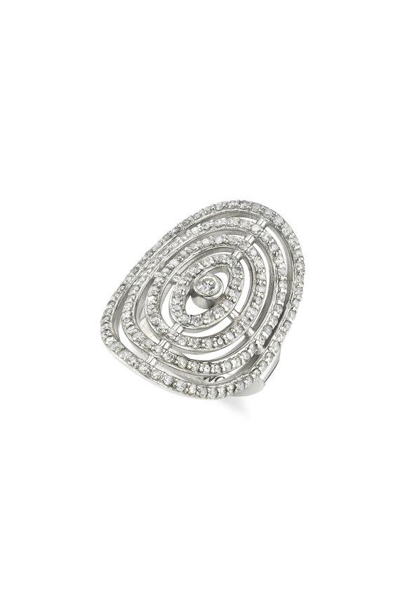 Sheryl Lowe Pavé Bullseye Ring