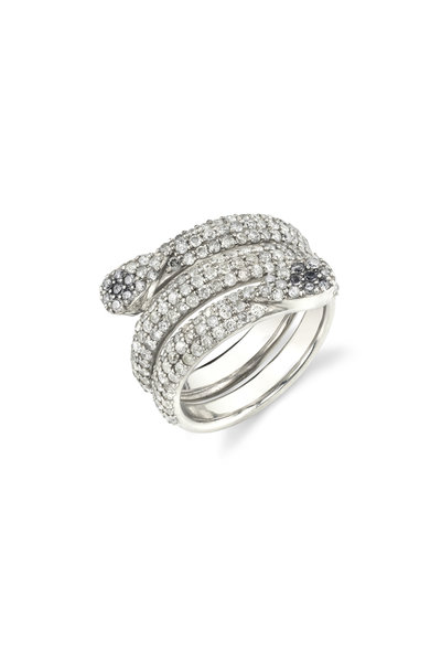 Sheryl Lowe - Pavé Diamond Snake Ring
