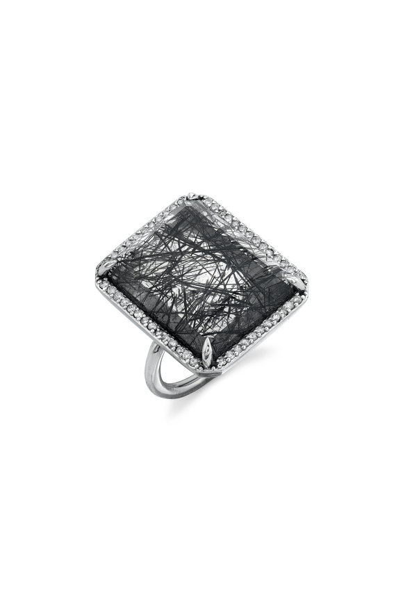 Sheryl Lowe Black Tourmalinated Quartz Ring