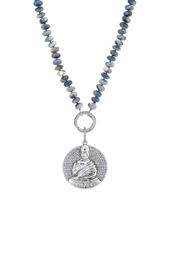 Sheryl Lowe Opal & Buddha Pendant Necklace