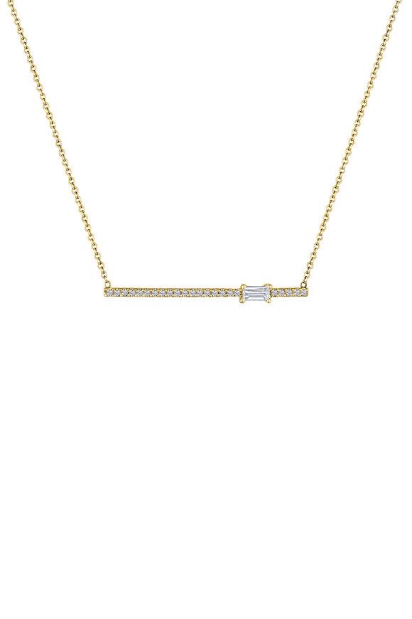 My Story Jewel 14K Yellow Gold Diamond Bar Necklace