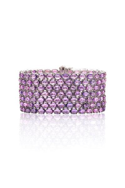 Paolo Costagli - 18K White Gold Violet Sapphire Bracelet