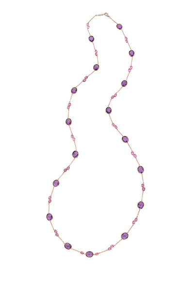 Paolo Costagli - Amethyst, Pink Sapphire & Diamond Necklace