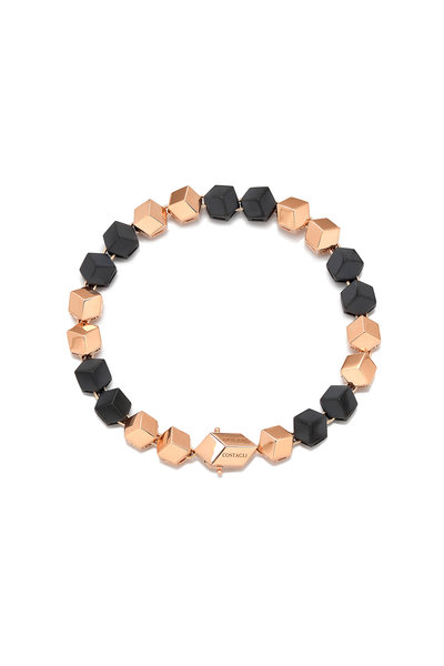 Paolo Costagli - 18K Rose Gold & Matte Black Bracelet