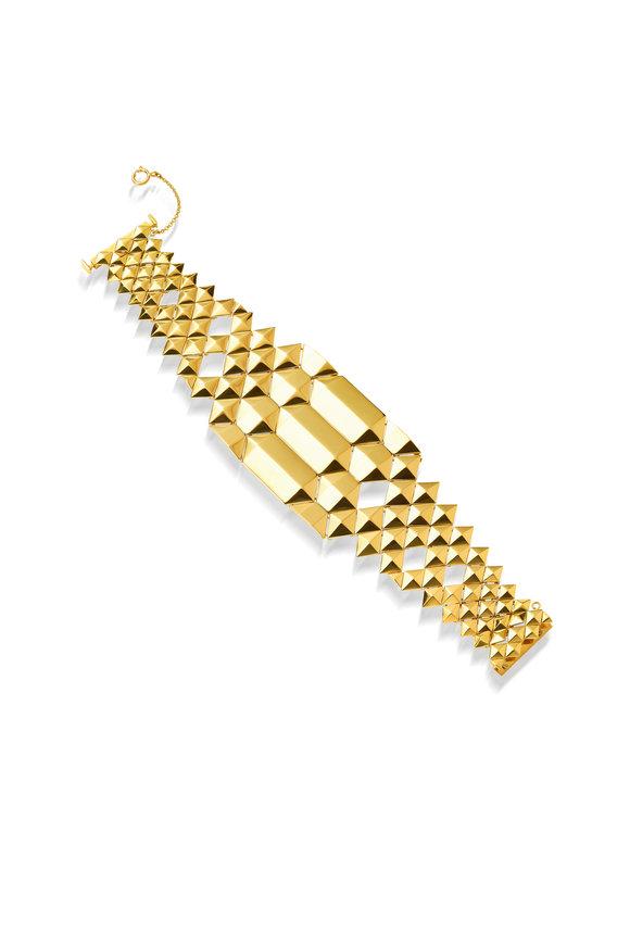 Cadar 18K Yellow Gold Python Bracelet