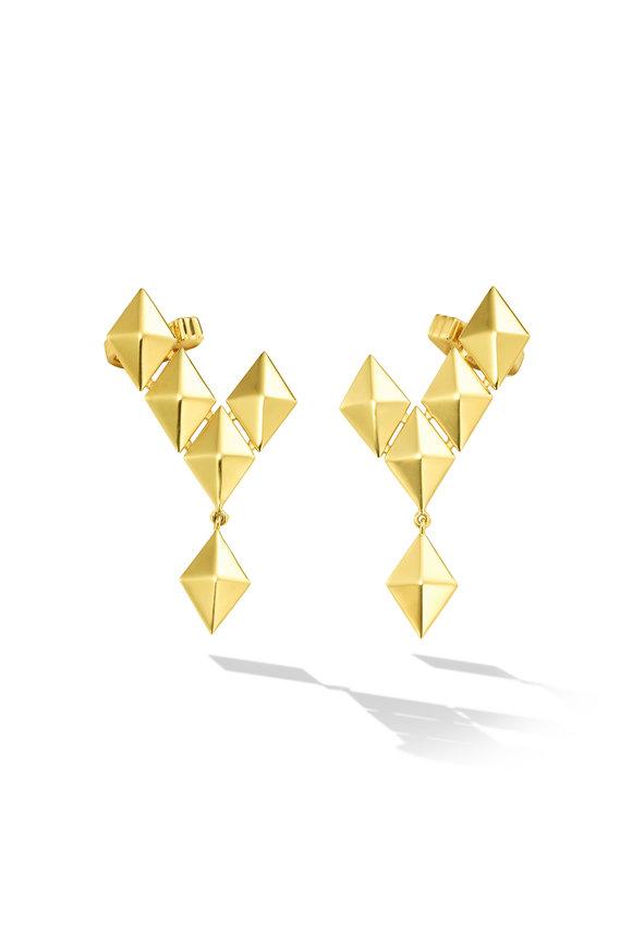 Cadar 18K Yellow Gold Python Climber Earrings