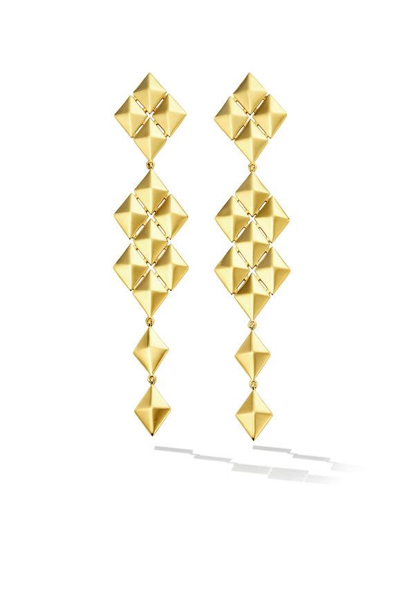 Cadar 18K Yellow Gold Python Symmetrical Drop Earrings