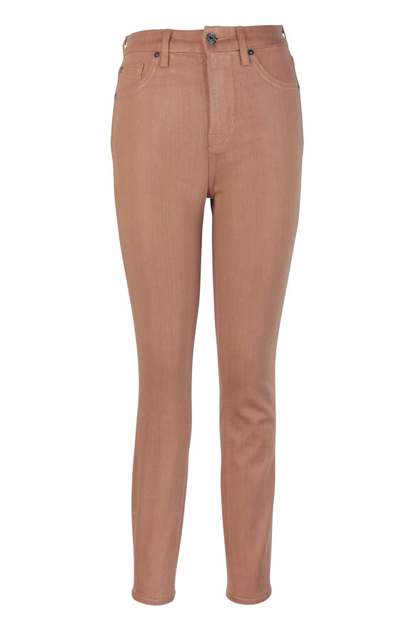 7 For All Mankind Tan High Waist Ankle Skinny Jean