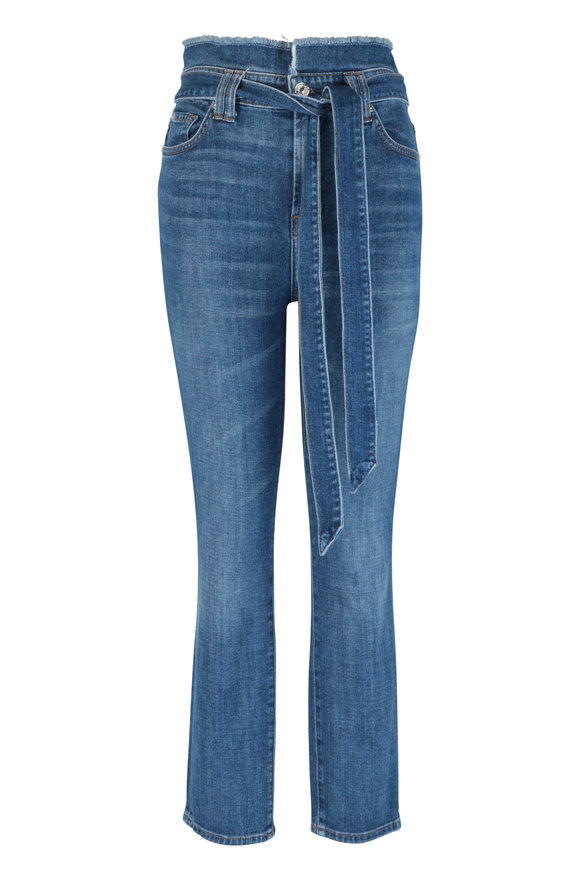 7 For All Mankind Roxanne Blue Paperbag Jean