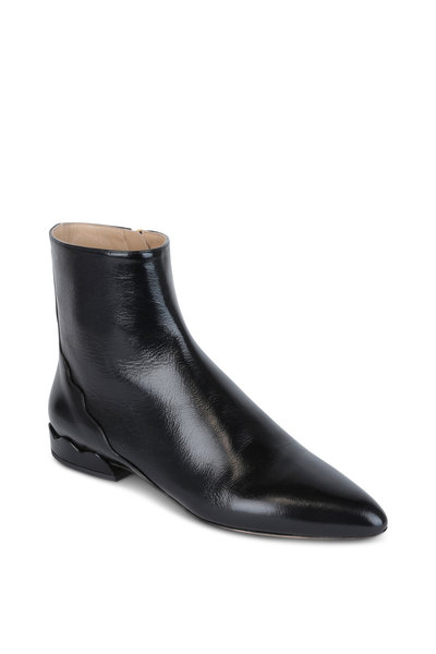 Chloé - Lorena Black Leather Ankle Boot