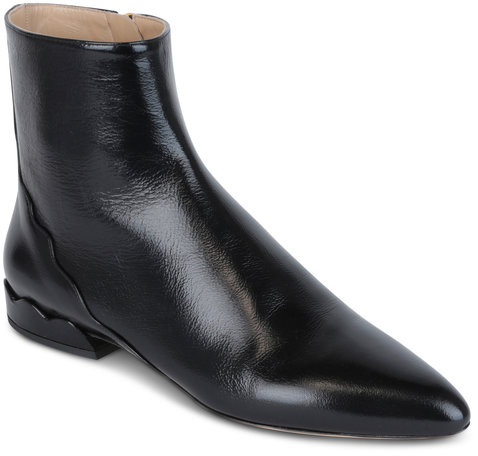 Chloé Lorena Black Leather Ankle Boot