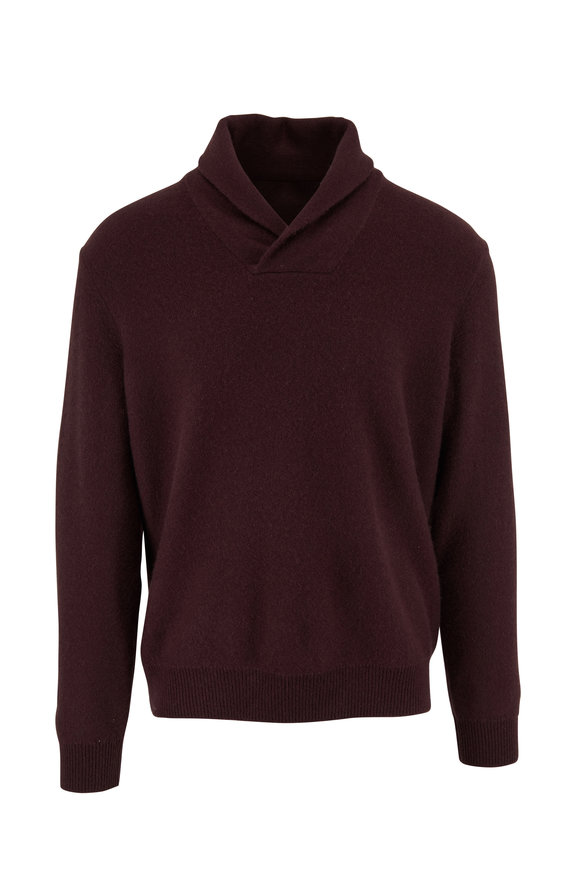 Vince Deep Orchid Cashmere Shawl Pullover