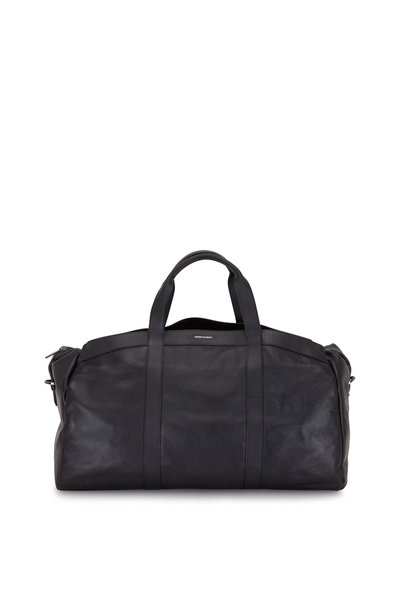 Hook + Albert - Getaway Black Pebbled Leather Duffle Bag