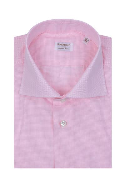 Borriello - Pink Mini Check Dress Shirt