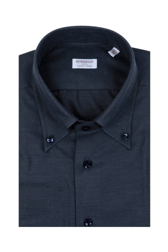 Borriello Navy Blue Dress Shirt