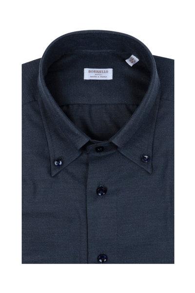 Borriello - Navy Blue Dress Shirt