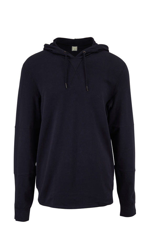 Swet Tailor Navy Stretch Cotton Hoodie