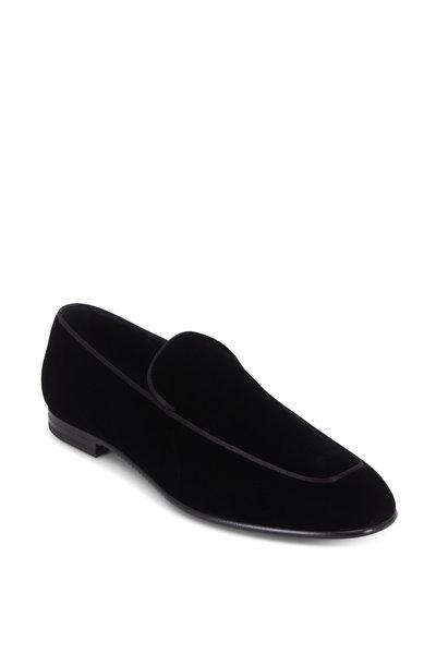Ermenegildo Zegna - Scarpe Black Velvet Loafer