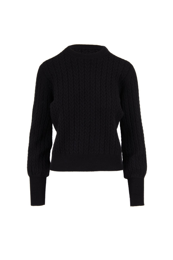 Chinti & Parker Black Cashmere Cable Knit Sweater