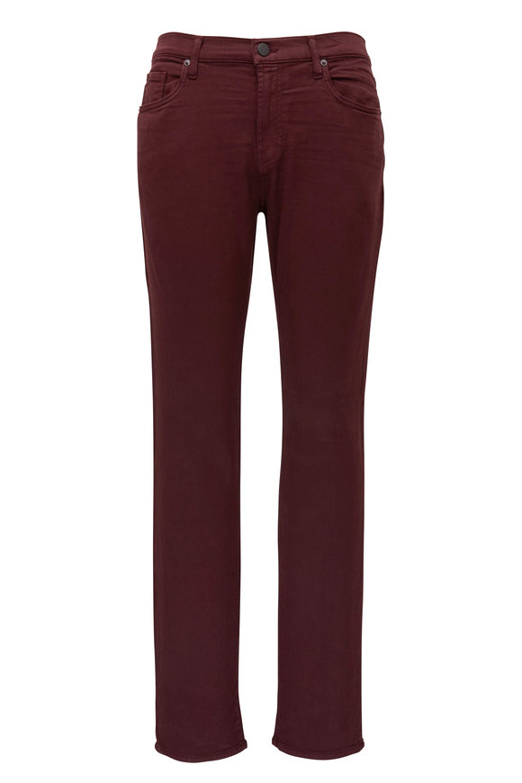 J Brand Kane Plum French Terry Straight Fit Jean