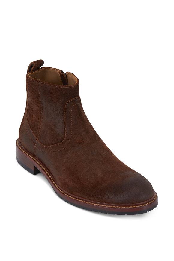 Trask Larkin Brown Waxed Suede Boot
