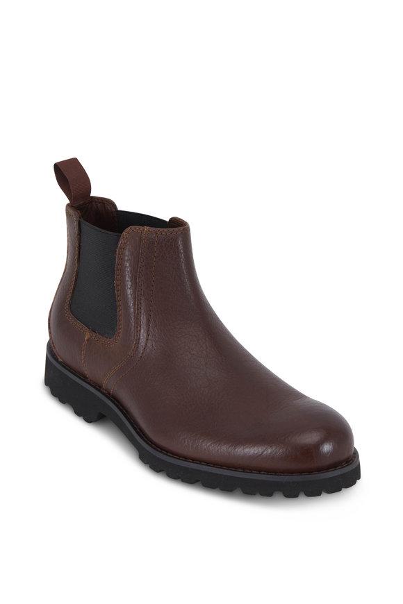Trask Gunter Dark Brown Leather Boot