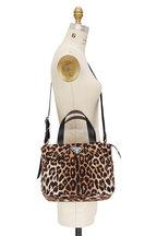 Prada - Leopard Nylon Top Handle Tote