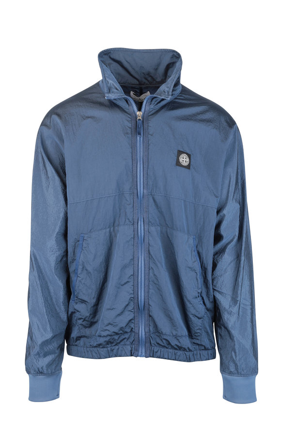 Stone Island Blue Burgundy Nylon Metal Ripstop Jacket